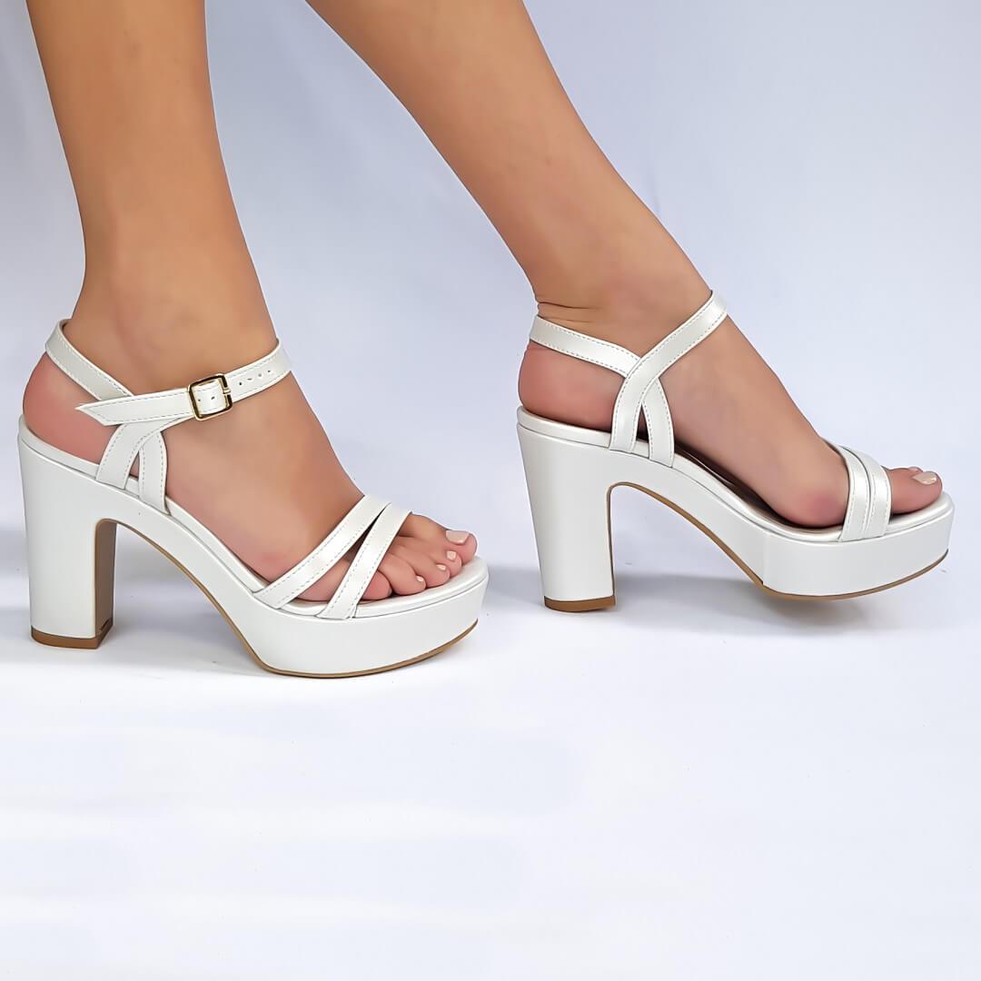 נעלי עקב פלטפורמה 400134